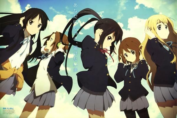 Tags: Anime, Horiguchi Yukiko, Utsumi Hiroko, Kyoto Animation, K-ON!, Kotobuki Tsumugi, Akiyama Mio, Hirasawa Yui, Nakano Azusa, Tainaka Ritsu, Covering Ears, Official Art, Scan