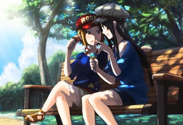 Tags: Anime, Fukutarou (Enji127), K-ON!, Tainaka Ritsu, Akiyama Mio, Park