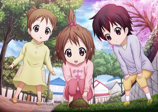 Tags: Anime, Pixiv Id 2613541, K-ON!, Hirasawa Ui, Hirasawa Yui, Manabe Nodoka, Turtle, Pixiv, Hirasawa Sisters