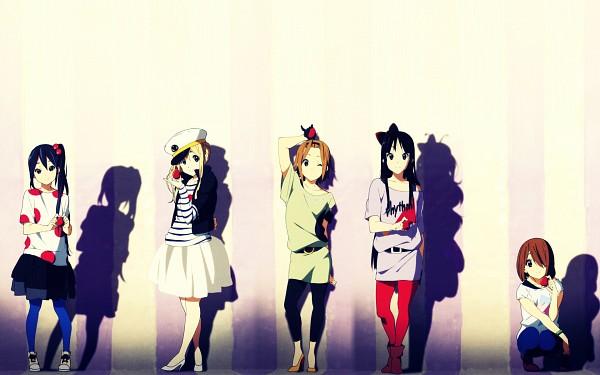 Tags: Anime, K-ON!, Tainaka Ritsu, Kotobuki Tsumugi, Akiyama Mio, Hirasawa Yui, Nakano Azusa, Wallpaper, Fanmade Wallpaper, Edited