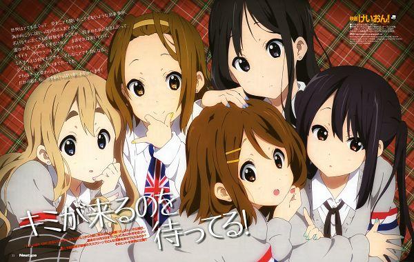 Tags: Anime, Horiguchi Yukiko, Hikiyama Kayo, Kyoto Animation, K-ON!, Newtype 2011-12, Tainaka Ritsu, Kotobuki Tsumugi, Akiyama Mio, Nakano Azusa, Hirasawa Yui, Newtype Magazine (Source), Scan