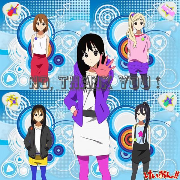 Tags: Anime, K-ON!, Tainaka Ritsu, Kotobuki Tsumugi, Akiyama Mio, Hirasawa Yui, Nakano Azusa, No Thank You, Edited, Listen!!