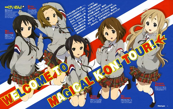 Tags: Anime, Yamada Naoko, Kyoto Animation, K-ON!, Akiyama Mio, Nakano Azusa, Hirasawa Yui, Tainaka Ritsu, Kotobuki Tsumugi, Newtype Magazine (Source), K-ON! (Movie), Magazine (Source), Scan