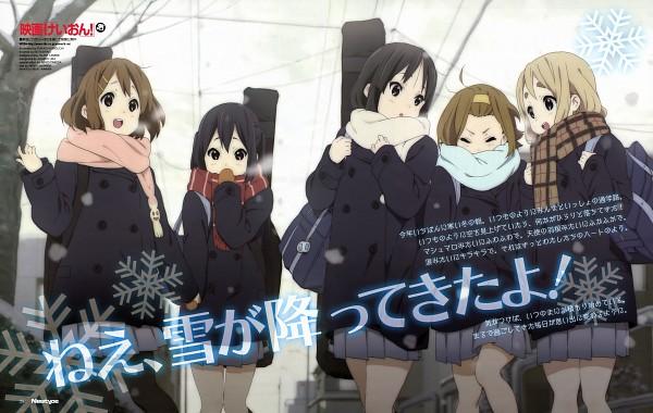 Tags: Anime, Horiguchi Yukiko, Kyoto Animation, K-ON!, Akiyama Mio, Hirasawa Yui, Nakano Azusa, Tainaka Ritsu, Kotobuki Tsumugi, Official Art, K-ON! (Movie)