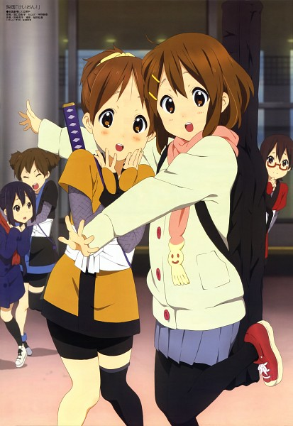 Tags: Anime, Horiguchi Yukiko, Kyoto Animation, K-ON!, Megami #142 2012-03, Hirasawa Ui, Suzuki Jun, Hirasawa Yui, Nakano Azusa, Manabe Nodoka, Mobile Wallpaper, Official Art, Magazine (Source)