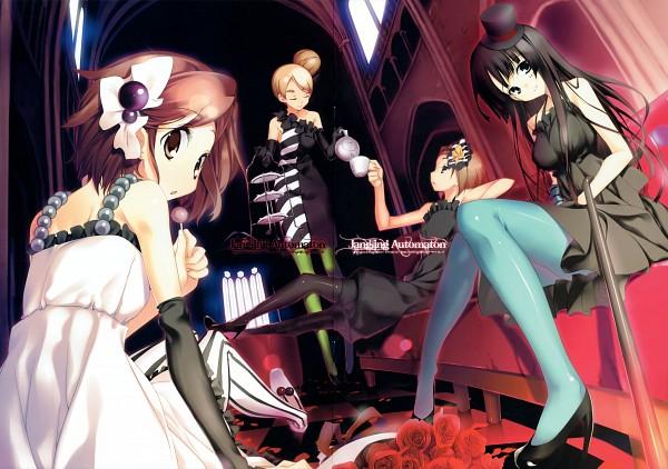 "Tags: Anime, Kagome (Pixiv107450), K-ON!, Kotobuki Tsumugi, Akiyama Mio, Hirasawa Yui, Tainaka Ritsu, Green Legwear, Fanart, Comic Market 76, Comic Market, Don't Say ""Lazy"""