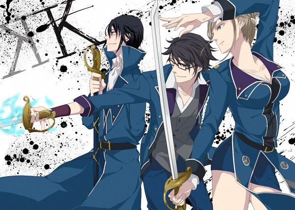Tags: Anime, Pixiv Id 4591690, K Project, Awashima Seri, Fushimi Saruhiko, Munakata Reisi, Fanart From Pixiv, Pixiv, Fanart