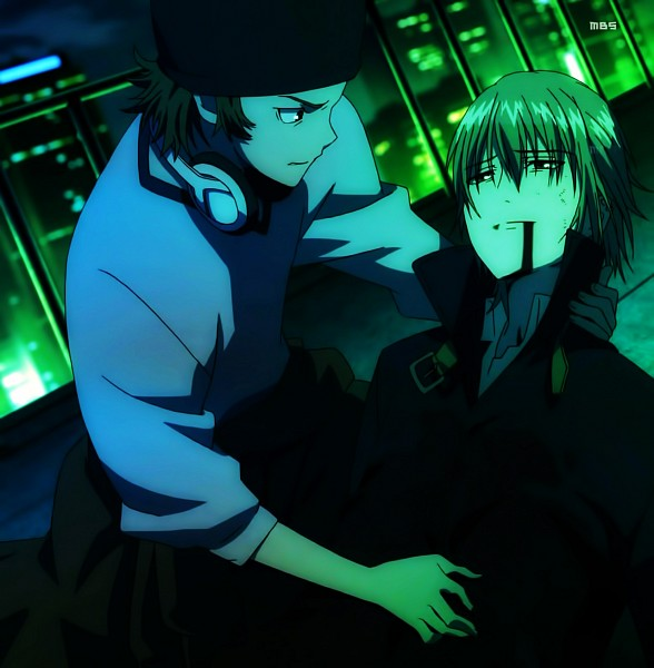 Tags: Anime, K Project, Totsuka Tatara, Yata Misaki, Screenshot, Official Art
