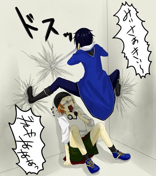 Tags: Anime, Pixiv Id 863860, K Project, Fushimi Saruhiko, Yata Misaki, Cicada Block, Pixiv, Fanart