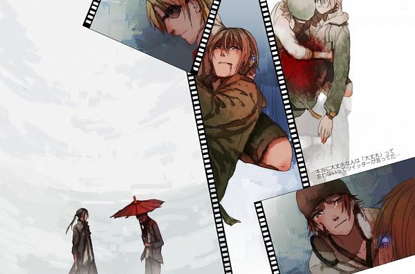 Tags: Anime, Mame (Hatutaro), K Project, Totsuka Tatara, Isana Yashiro, Yata Misaki, Kusanagi Izumo, Yatogami Kuroh, Filmstrip, Pixiv, Fanart, Fanart From Pixiv