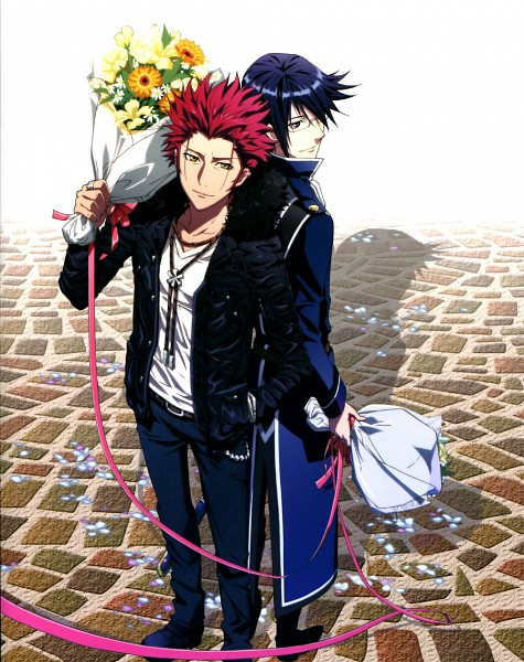 Tags: Anime, GoHands, K Project, Munakata Reisi, Suoh Mikoto, Official Art