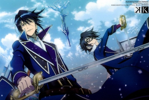Tags: Anime, K Project, Fushimi Saruhiko, Munakata Reisi, Official Art