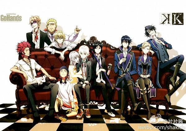 Tags: Anime, GoHands, K Project, Kushina Anna, Fushimi Saruhiko, Isana Yashiro, Totsuka Tatara, Munakata Reisi, Neko (K Project), Yata Misaki, Suoh Mikoto, Awashima Seri, Yatogami Kuroh