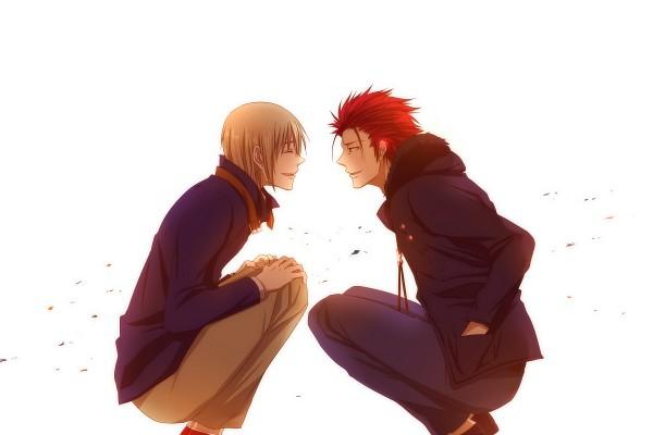 Tags: Anime, Pixiv Id 841680, K Project, Totsuka Tatara, Suoh Mikoto, Fanart, Pixiv