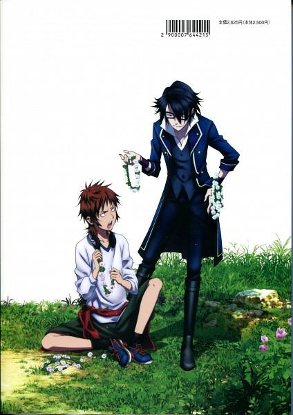 Tags: Anime, GoHands, K Project, Yata Misaki, Fushimi Saruhiko, Scan, Mobile Wallpaper, Official Art