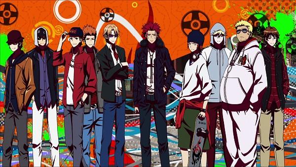 Tags: Anime, K Project, Fujishima Kousuke (K Project), Kamamoto Rikio, Bando Saburouta, Yata Misaki, Chitose You, Kusanagi Izumo, Dewa Masaomi, Suoh Mikoto, Eric Sutr, Akagi Shouhei, Skateboard