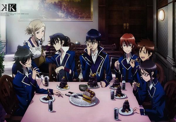 Tags: Anime, GoHands, K Project, Domyoji Andy, Hidaka Akira (K Project), Awashima Seri, Enomoto Tatsuya, Fushimi Saruhiko, Munakata Reisi, Akiyama Himori, Official Art