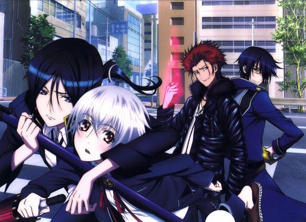 Tags: Anime, GoHands, K Project, Isana Yashiro, Munakata Reisi, Suoh Mikoto, Yatogami Kuroh, Official Art, Scan