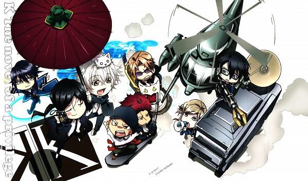 Tags: Anime, GoHands, K Project, Fushimi Saruhiko, Isana Yashiro, Munakata Reisi, Yata Misaki, Suoh Mikoto, Awashima Seri, Yatogami Kuroh, Kusanagi Izumo, Neko (K Project), Helicopter