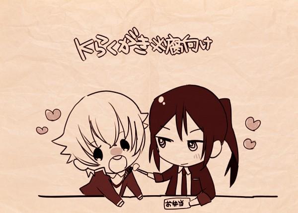 Tags: Anime, Pixiv Id 853084, K Project, Yatogami Kuroh, Isana Yashiro, Fanart From Pixiv, Pixiv, Fanart