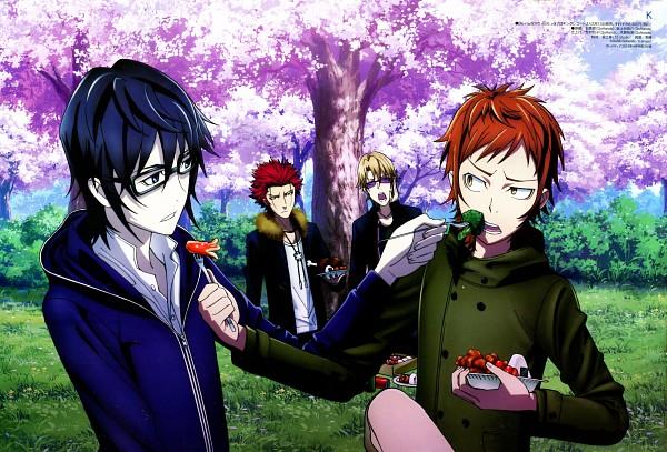 Tags: Anime, Ishimori Ai, GoHands, K Project, Suoh Mikoto, Yata Misaki, Kusanagi Izumo, Fushimi Saruhiko, Octopus Sausage, Broccoli (Food), Meat, Hanami, Onigiri