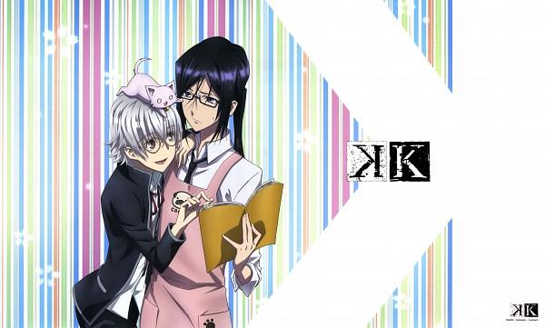 Tags: Anime, GoHands, K Project, Yatogami Kuroh, Isana Yashiro, Neko (K Project), Official Art, Wallpaper
