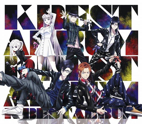 Tags: Anime, GoHands, K Project, Kushina Anna, Isana Yashiro, Yata Misaki, Fushimi Saruhiko, Neko (K Project), Yatogami Kuroh, Converse, CD (Source), Official Art