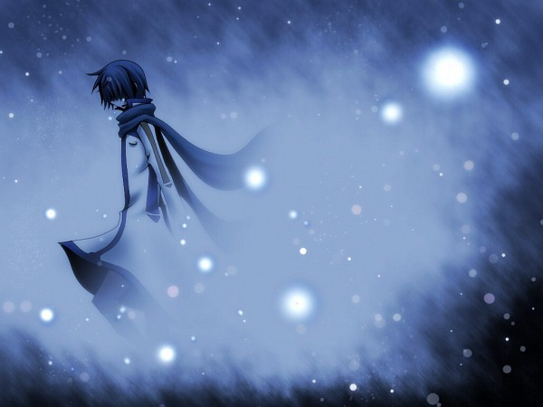 Tags: Anime, Ice23234, VOCALOID, KAITO, Disappearing, Wallpaper