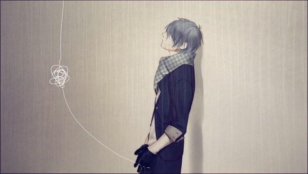 Tags: Anime, Meri-h-shino, VOCALOID, KAITO, Facebook Cover