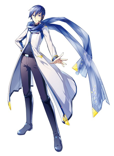 Tags: Anime, iXima, VOCALOID, KAITO, Unzipped, Floating Scarf, Official Art, V3