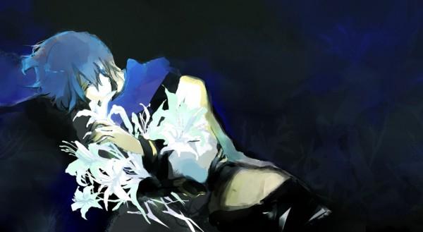 Tags: Anime, Nononono, VOCALOID, KAITO, Facebook Cover, Pixiv
