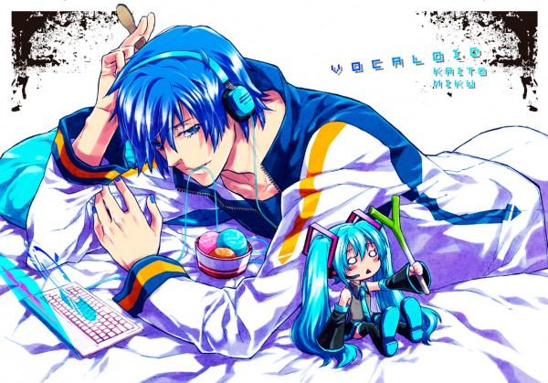 Tags: Anime, VOCALOID, Hachune Miku, KAITO