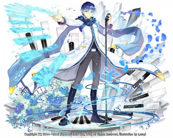 Tags: Anime, c.seryl, SQUARE ENIX, Kai-ri-sei Million Arthur, VOCALOID, KAITO, PNG Conversion, Official Art, V3