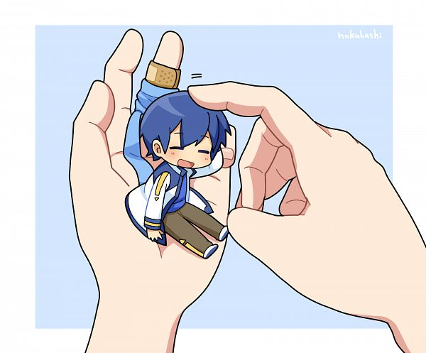 Tags: Anime, Nokuhashi, VOCALOID, KAITO, Person On Hand, Fanart, Fanart From Pixiv, Pixiv