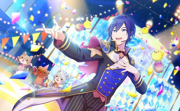 Tags: Anime, Project Sekai Colorful Stage! feat. Hatsune Miku, VOCALOID, KAITO, Circus, Official Art, Official Card Illustration