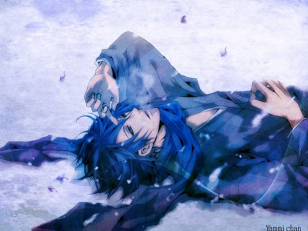 Tags: Anime, Karasu (Pixiv1592003), VOCALOID, KAITO, Wallpaper