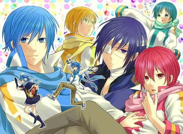 Tags: Anime, maza- (Sakana no Hane), VOCALOID, KAITO, TAITO (VOCALOID), KAIKO, AKAITO, KIKAITO, NIGAITO, Chasing, Pixiv, Yandereloid