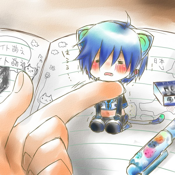 Tags: Anime, Project DIVA 2nd, VOCALOID, KAITO, Project DIVA Electronic Kitty, Pixiv