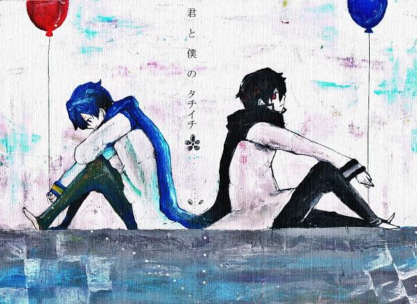 Tags: Anime, Pixiv Id 1609661, VOCALOID, KAITO, KAGEITO, Symmetry, Pixiv, Fanart From Pixiv, Fanart, Piapro Illustrated