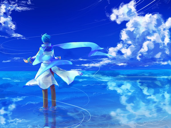 Tags: Anime, VOCALOID, KAITO, Floating Scarf