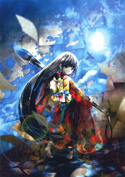 Tags: Anime, KEI (Pixiv4088), Eshi 100-nin Ten 05, Original, Scan, Mobile Wallpaper