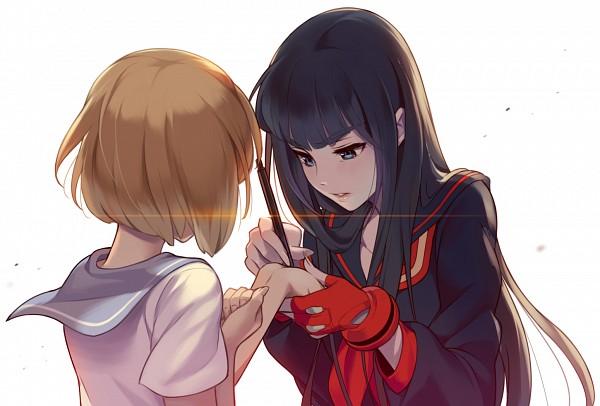 Tags: Anime, 1000marie, KILL la KILL, Mankanshoku Mako, Kiryuuin Satsuki, Writing, Fanart From Pixiv, Pixiv, Fanart