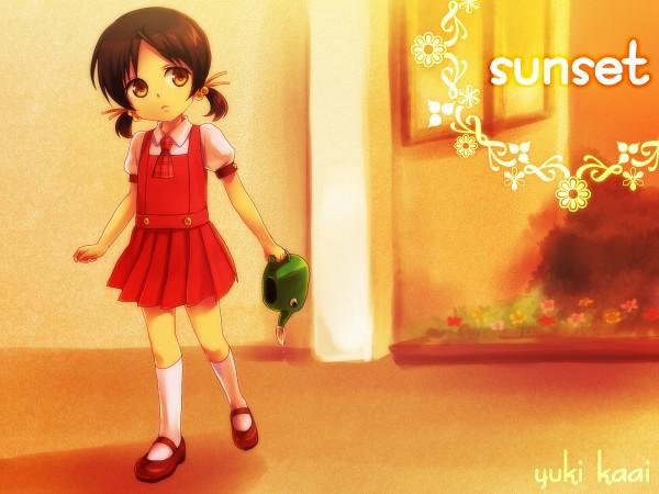 Tags: Anime, Oumi Sanaka, VOCALOID, Kaai Yuki, Watering Can, Fanart, Pixiv, Wallpaper
