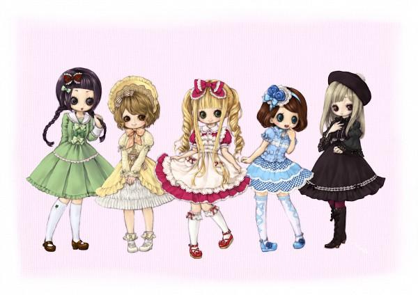 Tags: Anime, Kabasawa Kina, Sweet Lolita, Poke Bonnet, Classic Lolita, Semi Chibi, Pixiv, Original