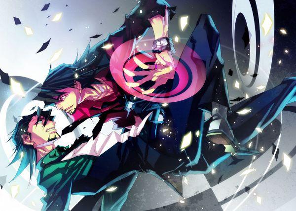 Tags: Anime, Pixiv Id 246195, TIGER & BUNNY, VOCALOID, Black Tiger, Kaburagi T. Kotetsu, Pixiv, Fanart, Ura-omote Lovers