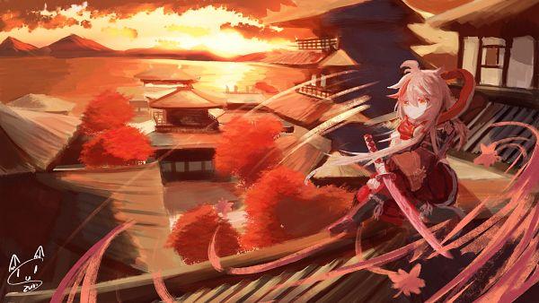 Tags: Anime, Pixiv Id 27236214, Genshin Impact, Kaedehara Kazuha, Roof