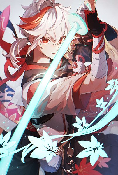 Tags: Anime, Pixiv Id 11140521, Genshin Impact, Kaedehara Kazuha, Fanart From Pixiv, PNG Conversion, Pixiv, Fanart