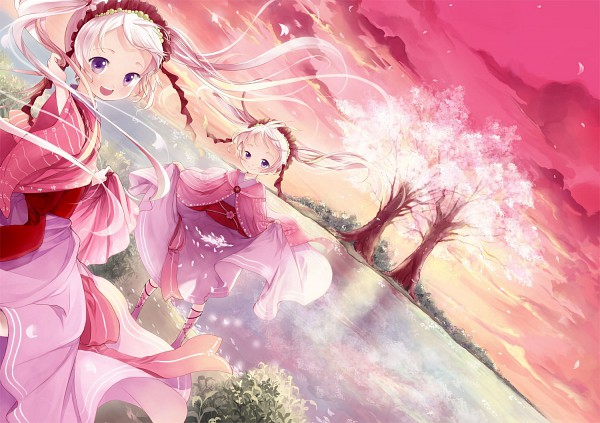 Tags: Anime, Kaedena Akino, Spring, Pixiv