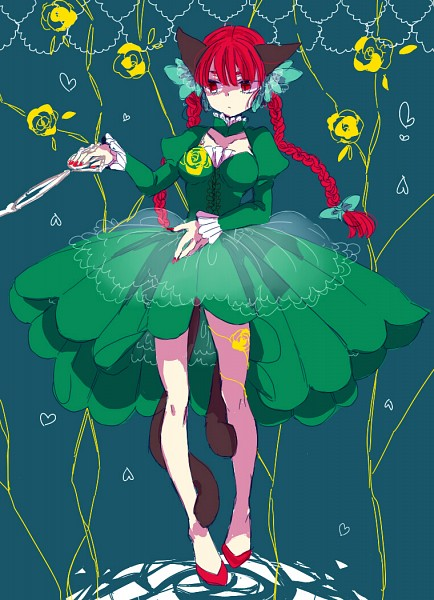 Tags: Anime, Shima Mei, Touhou, Kaenbyou Rin, Fanart, Fanart From Pixiv, Pixiv, Rin Kaenbyou