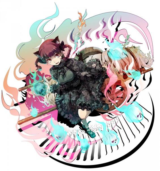 Tags: Anime, Miyuki Ruria, Touhou, Kaenbyou Rin, Fanart, Pixiv, Rin Kaenbyou